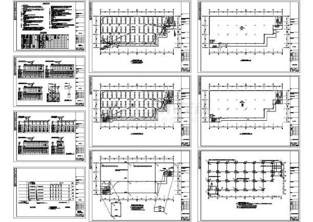 5层6682㎡工业厂房电气施工图设计-图一