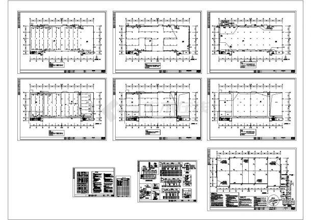 2层10米工业厂房电气施工图设计-图一