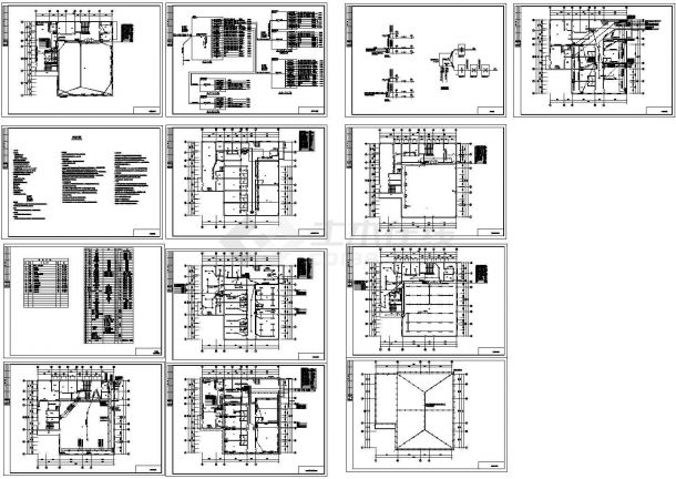 餐厅照明电气设计施工图-图一
