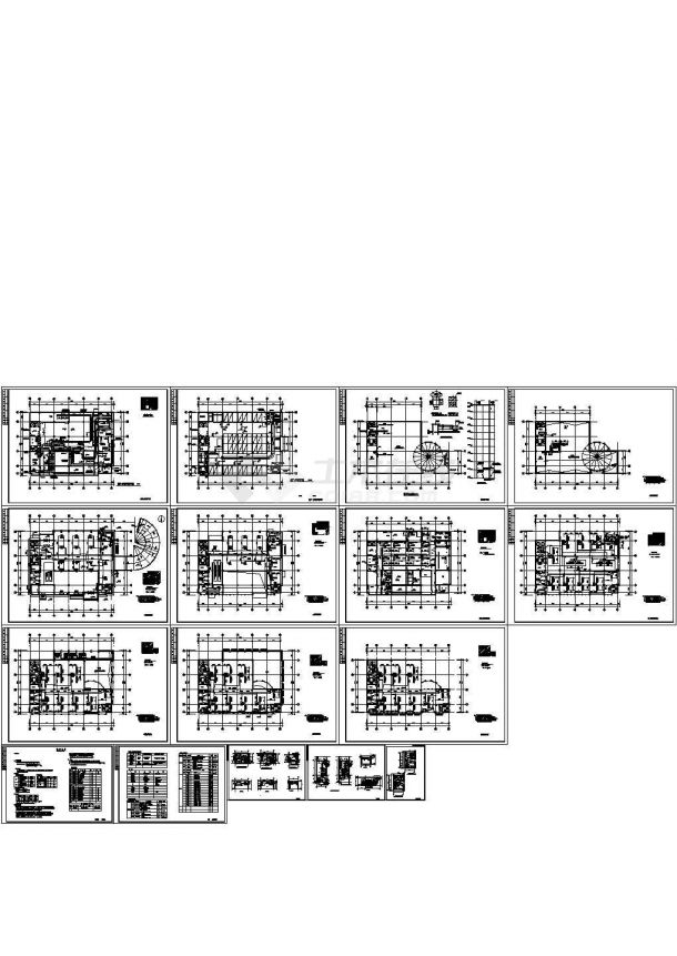 某多层办公楼VRV空调系统设计cad施工图(含设计说明)-图一