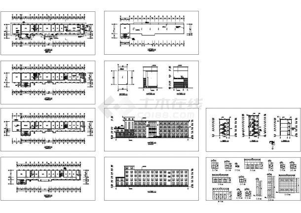 宿舍楼整套建筑图纸-图一
