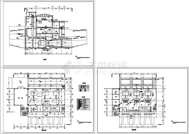 某工业生产厂房设计cad建筑施工图(标注详细)-图一