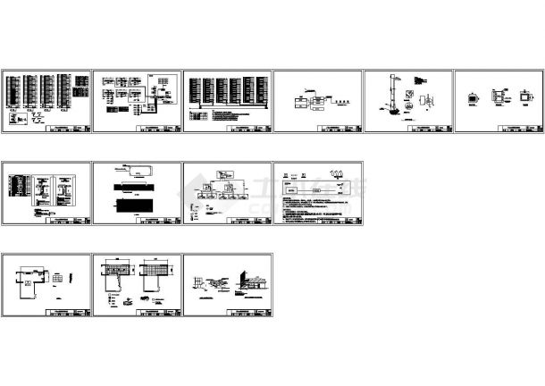 最新小区整套弱电智能化系统图纸(楼宇对讲、监控、广播、停车场、机房、电子巡更、立杆、管井)-图一