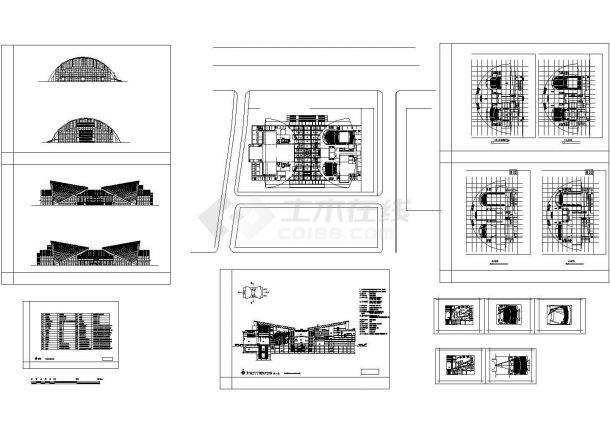 某地4层剧院建筑设计CAD方案图-图一