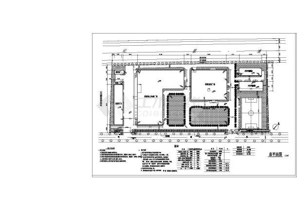 尼可尼泵业有限公司厂房设计cad总平面图(含设计说明)-图一