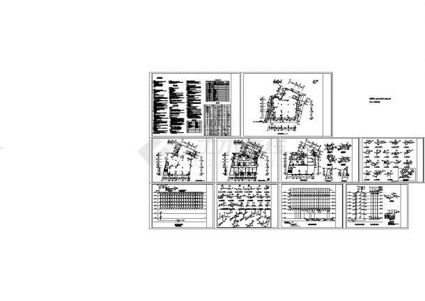 7层不规则形商住楼给排水设计图(长28米 宽24.264米)-图一