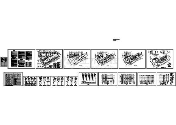 7层6090.72平米厂区商住楼给排水设计图(长46米 宽30米)-图一