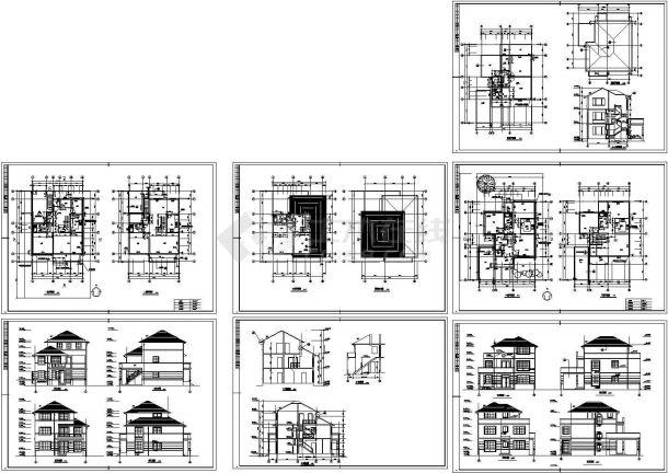 南京两套别墅装修设计建筑施工图,共七张-图一