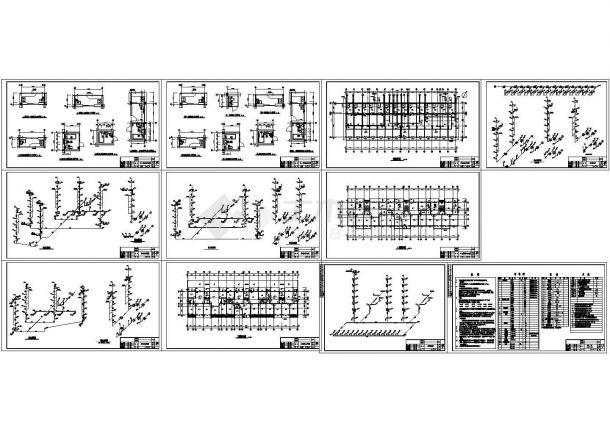 7层底商3单元住宅楼给排水施工图(长51.4米 宽16.3米)-图一