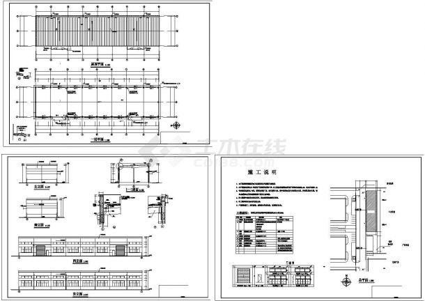 单层高7.75米科技工业园公司仓库建筑方案设计图-图一