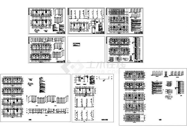 某六层住宅楼电气暖通设计图纸,标注明细-图一