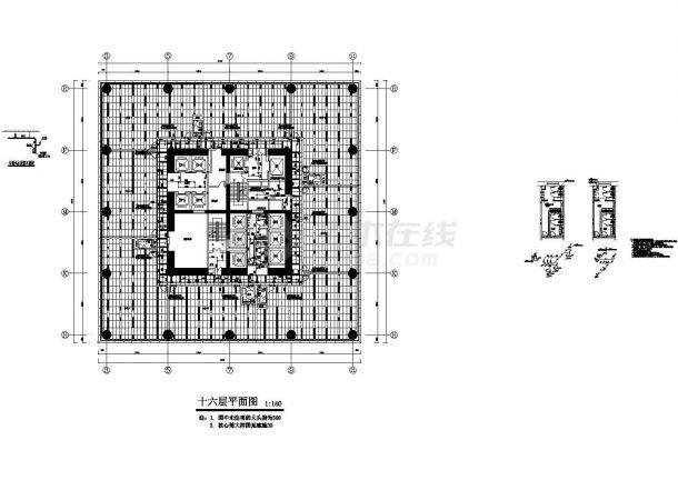 [陕西]超高层办公楼喷淋及给排水管道专项施工图-图一