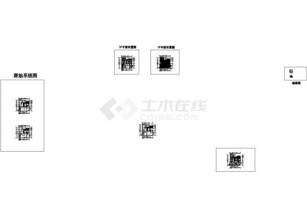 上海某项目二层豪宅样板房室内装饰工程全套CAD施工图+效果图+预算(内附压缩包)-图一