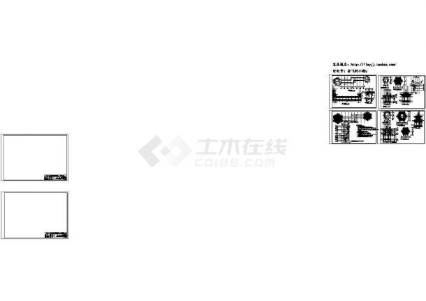 某廊亭古建筑设计CAD施工图(含设计说明)-图一