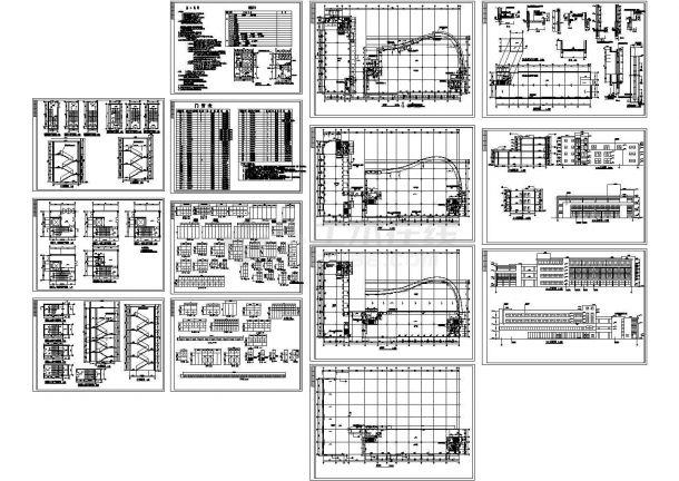 4层8753平米框架结构标准厂房建施图(长86.5米 宽48米)-图一