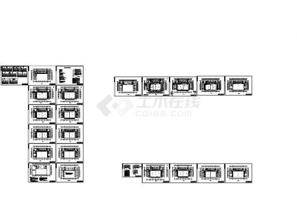 陕西某综合楼电气照明设计CAD图纸-图一