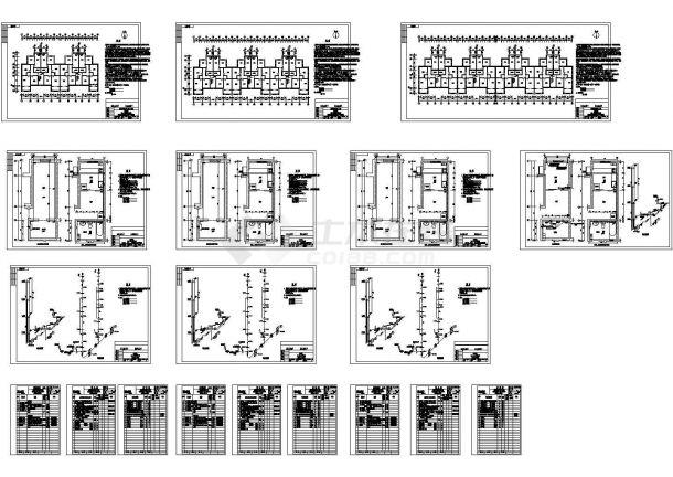 某小区经济适用房住宅楼给排水施工图-图一
