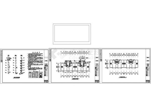 6层1梯2户2单元住宅楼给排水施工图(长34米 宽9.3米)-图一