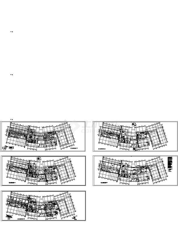 某高档别墅小区会所地下层电气施工图-图一