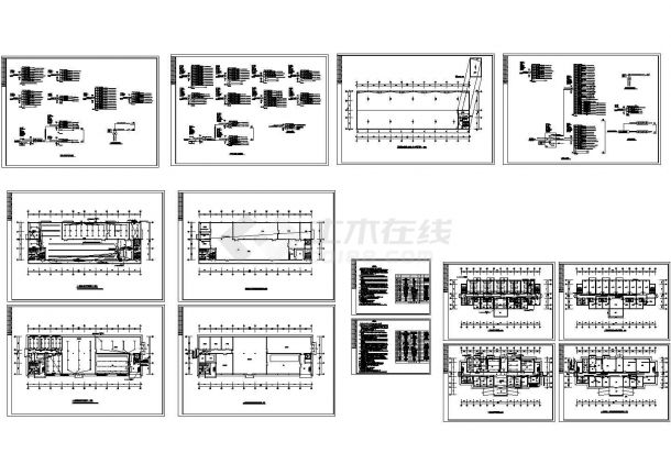 某工厂完整电气设计cad图-图一