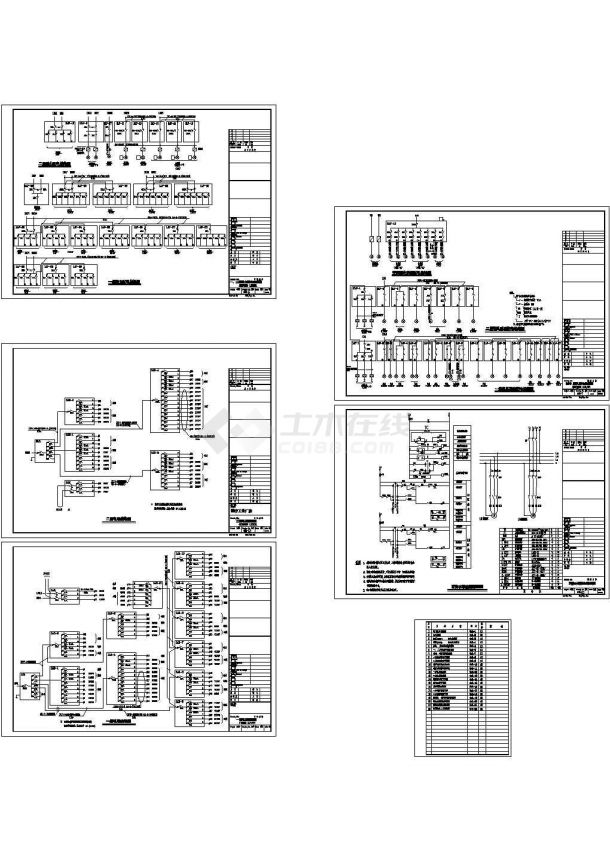 医疗工业厂房电气系统图设计-图一