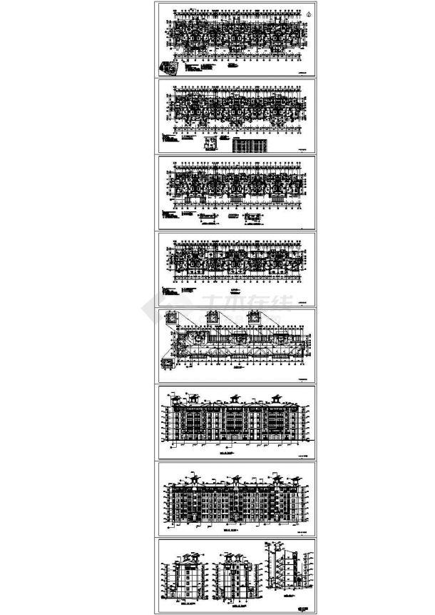 6层3381.54平米砖混住宅楼毕业设计((建筑、结构CAD图)、平面布置图、进度表,施工组织设计,施工图预算)-图一