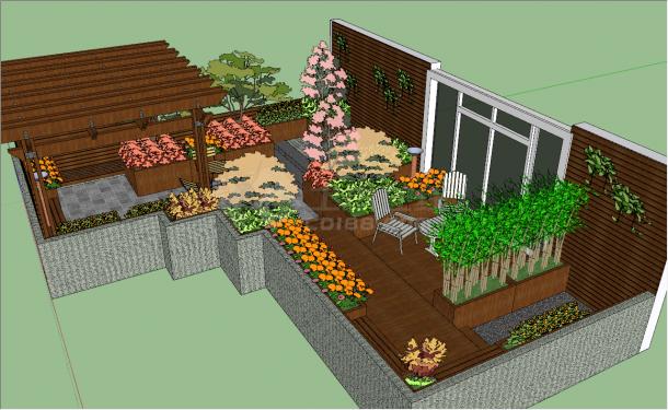 精美花园庭院参考模型-图二
