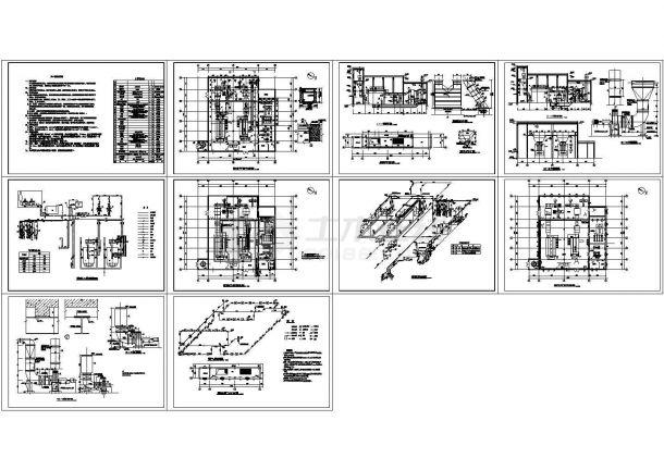 热水锅炉房施工图设计cad图,含施工说明-图一