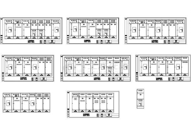 低压开关柜电气设计cad图,共9张-图一