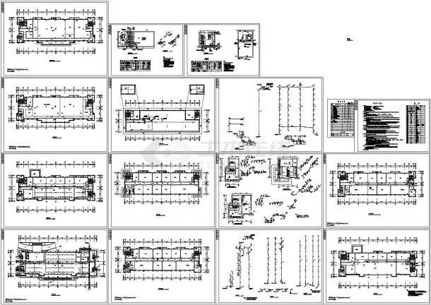 一套9层9777平米通信生产办公楼给排水施工图-图一