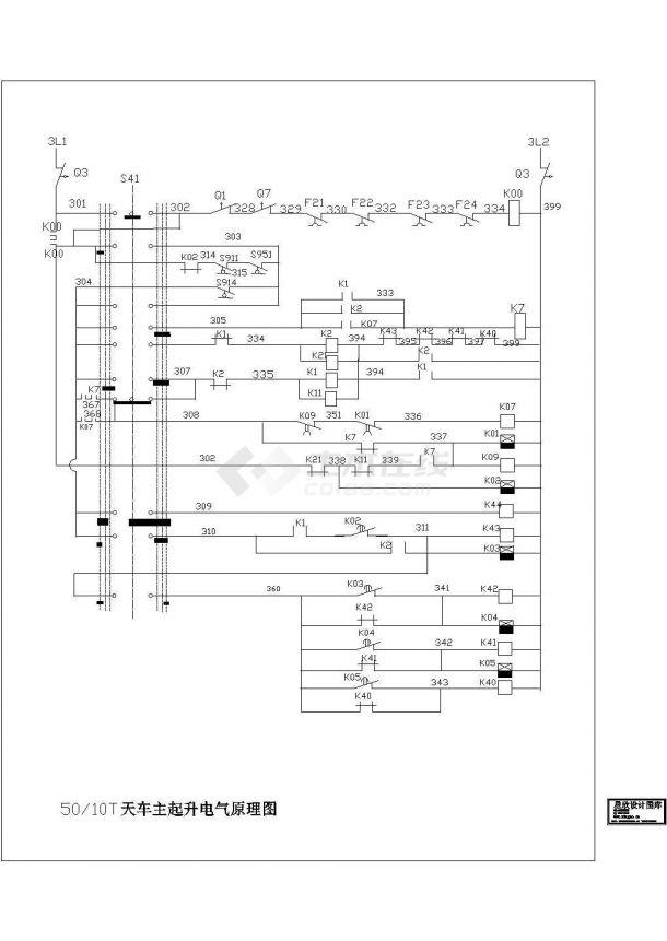 50—10T天车主起升电气原理图-图一