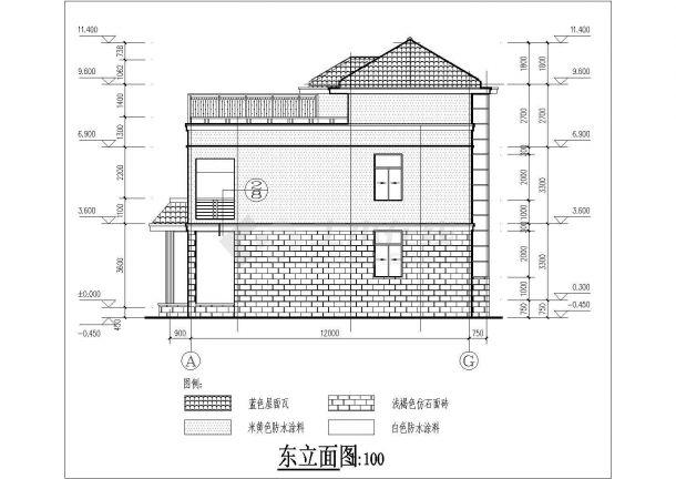 某地区三层普通住宅楼建筑设计施工图-图二