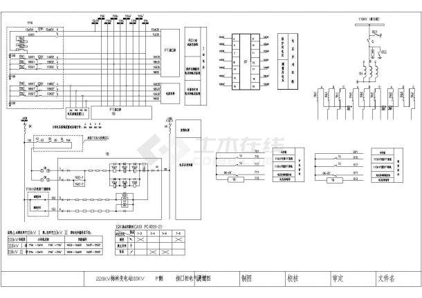 110KV侧接口柜电气原理图-图一