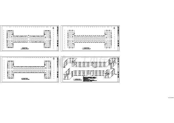 【北京】某学生宿舍供暖系统改造设计图-图一
