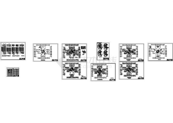 某地区高层住宅楼的电气照明设计施工图-图一
