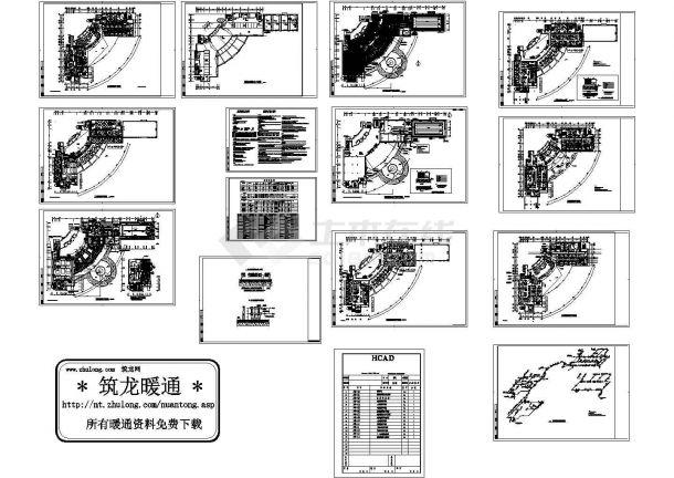 天津某地三层会所暖通工程设计图(含设计说明和平面图)-图一