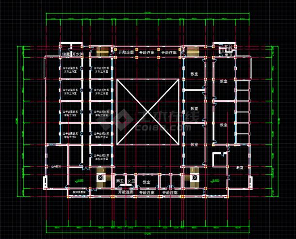 .某职业学院多层u字形教学楼设计方案图图片