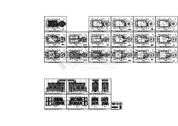 某欧式风格大酒店室内装修设计cad全套施工图(含外墙设计,24张图)-图一