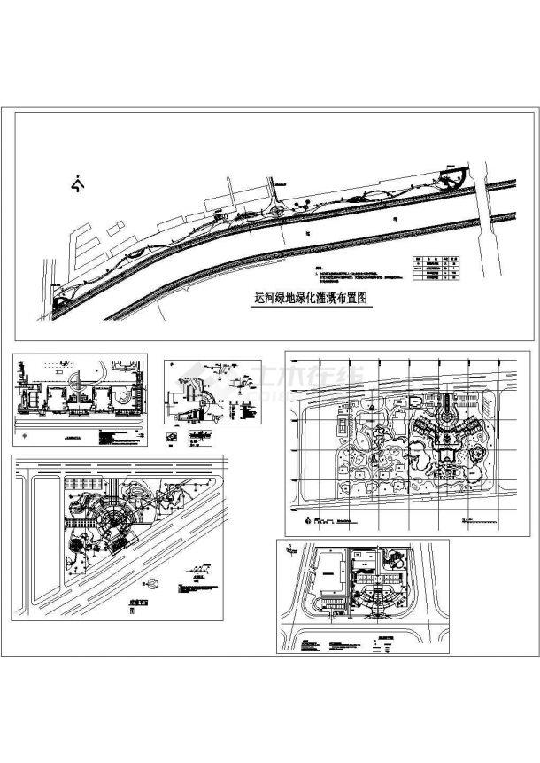 景观施工图分类细部大全—灌溉系统cad图-图一
