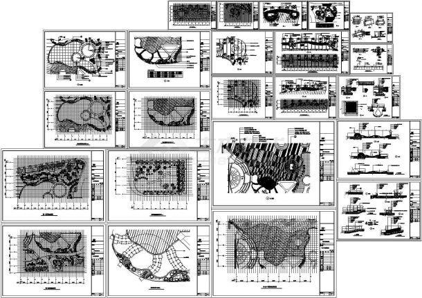 杭州某广场绿化景观设计图-图一
