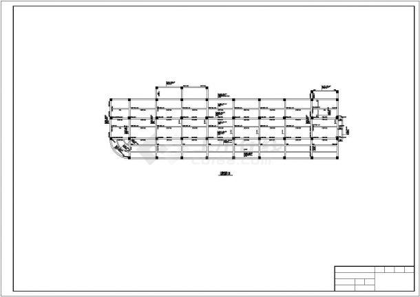 8层9405平米一字型框架办公楼施工组织设计(含建筑图、结构图、计算书)-图二
