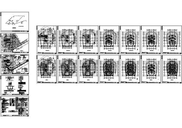 -1+21层办公楼给排水施工图-图一