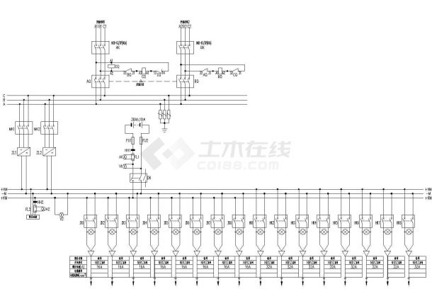 GZDW-65直流屏系统原理图-图一