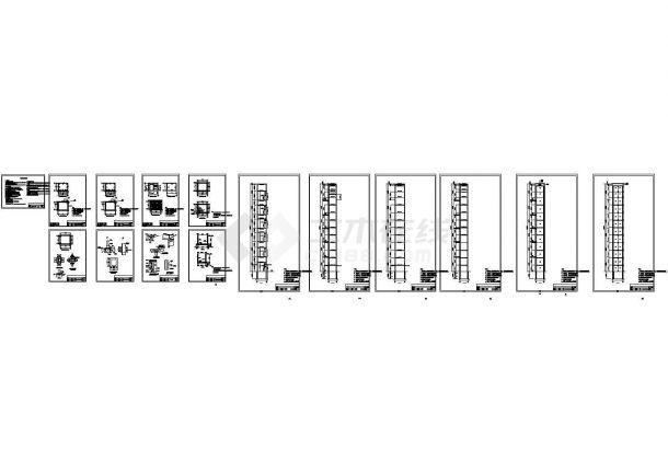 某6层电梯钢框架结构设计施工图-图一