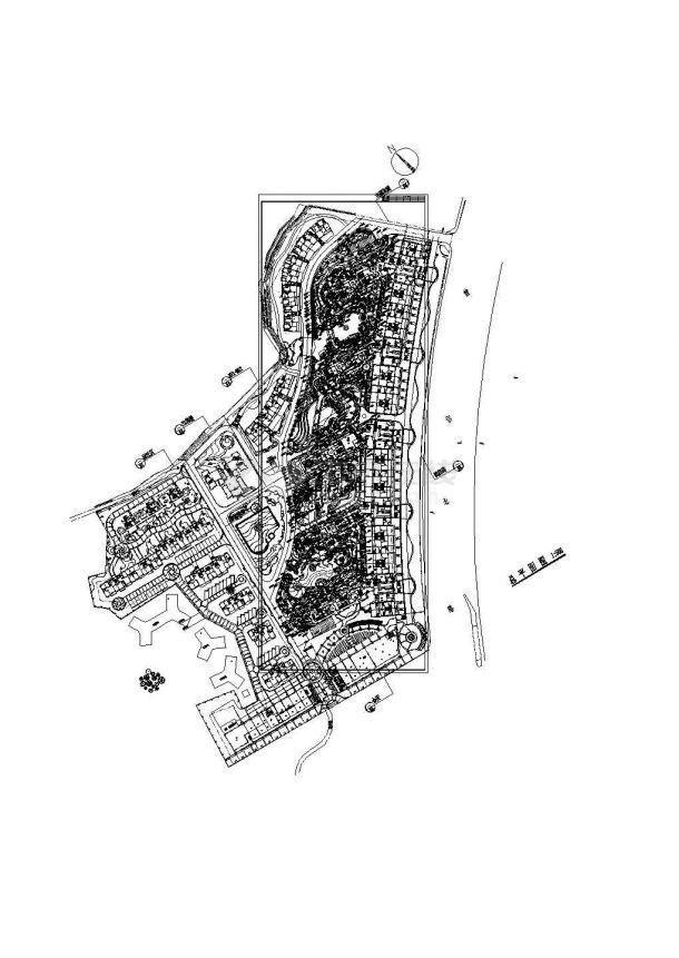 [珠海]亚热带风情主题花园园林景观工程施工图-图一