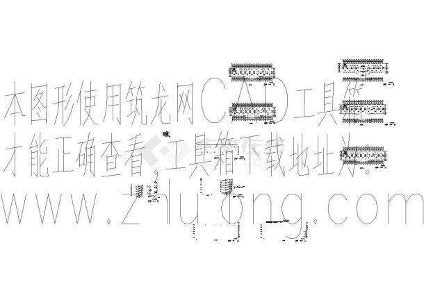 4500平米五层左右一字型框架办公楼毕业设计cad图,含设计说明-图一
