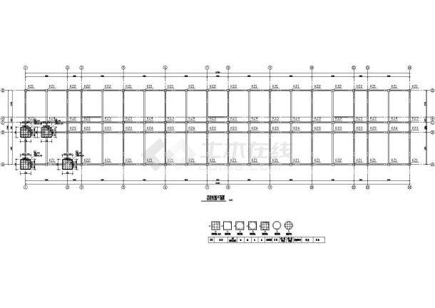 5247平米,四层教学楼毕业设计(计算书、PKPM模型、建筑图、部分结构图)-图一