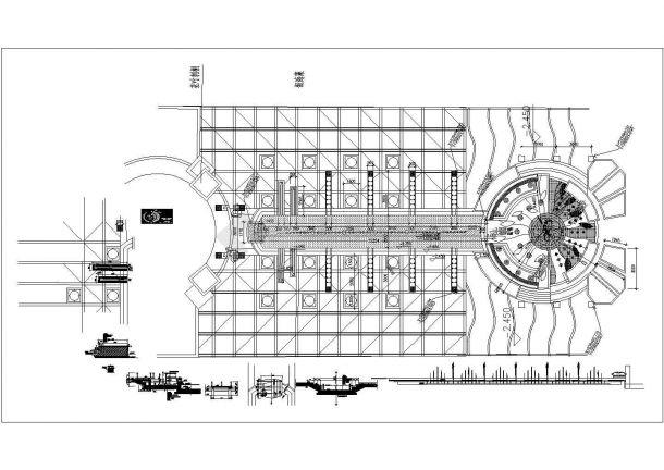 某城市景观绿地广场喷水池,喷泉设计cad施工图(大院设计)-图一