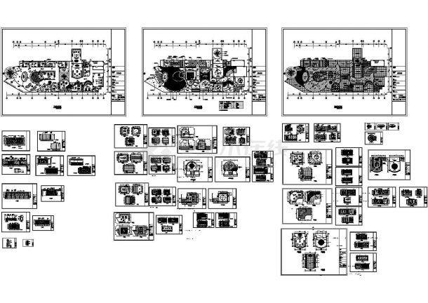 豪华卡拉OK室内装修设计全套施工图纸-图一