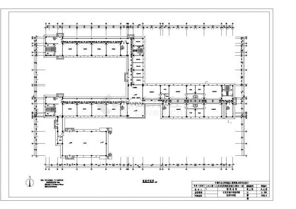 某5层框架教学楼建筑结构毕业设计图纸(含计算书)-图一